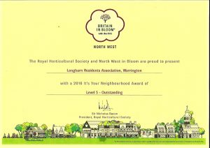 NW In Bloom Certificate