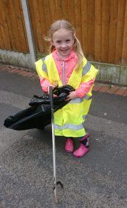 Emily Smith (5). Little picker BIG HELP.